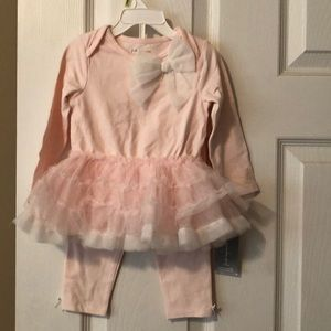NWT First impressions tutu top and leggings set